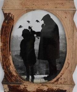 cadre comtoise photo noir et blanc
