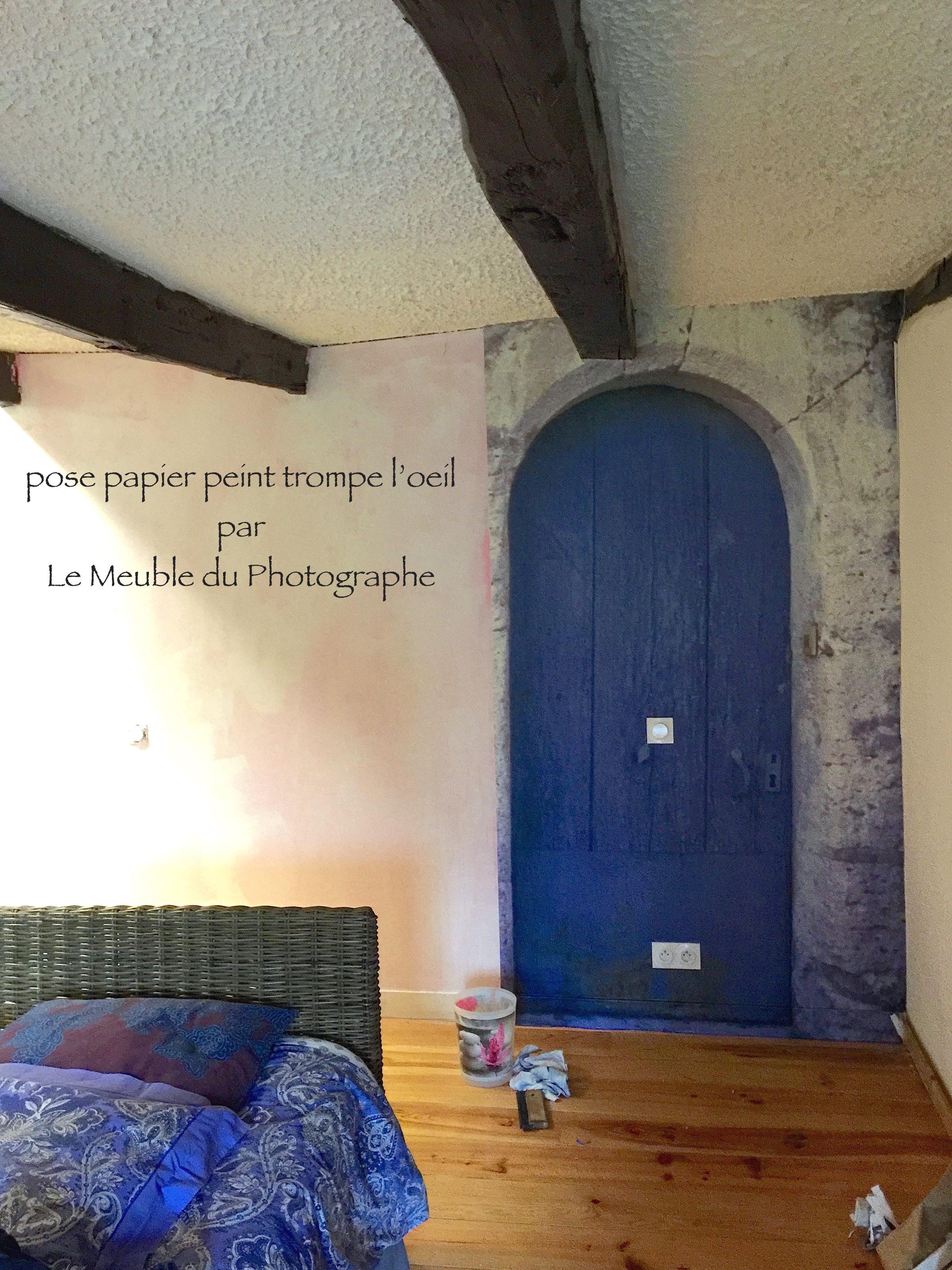 Papier Peint Trompe L Oeil Porte Placard papier peint photo trompe l'oeil: portes