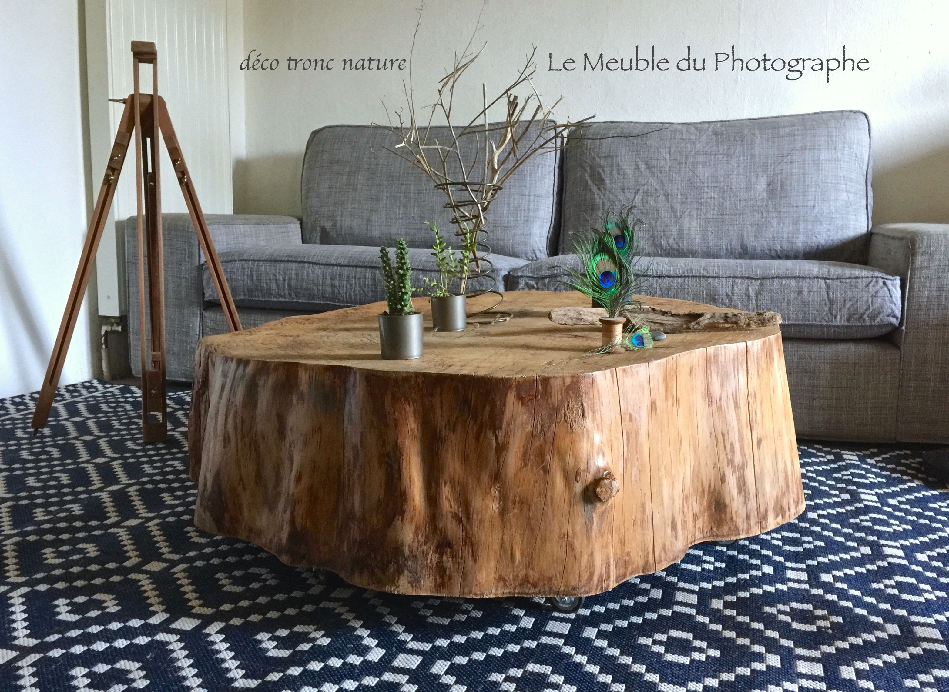 Mobilier Tronc D Arbre rondin pin 85cm à 1m20 table nature
