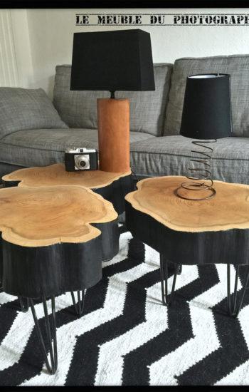 tables basses sur hairpin legs
