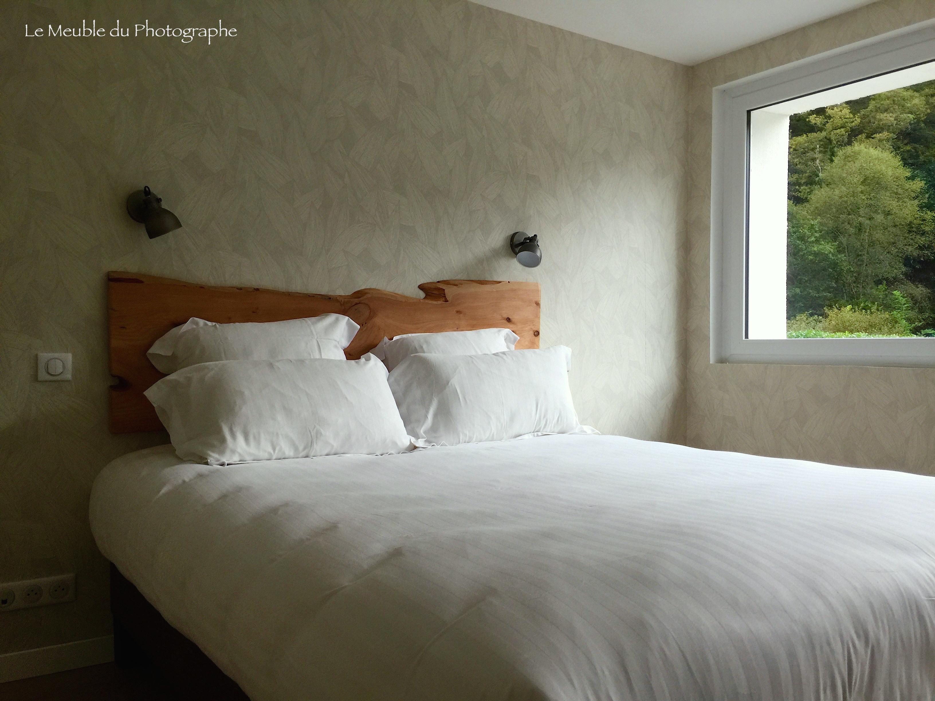Planche Pour Tete De Lit tête de lit en planche d'arbre massive