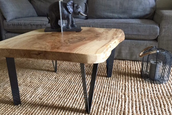 table basse bois massif frene 1