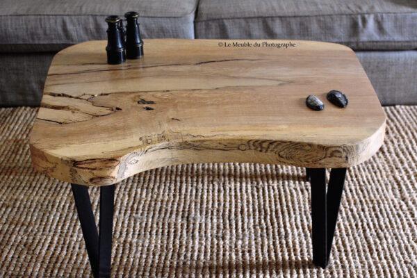 Table basse frene bois massif
